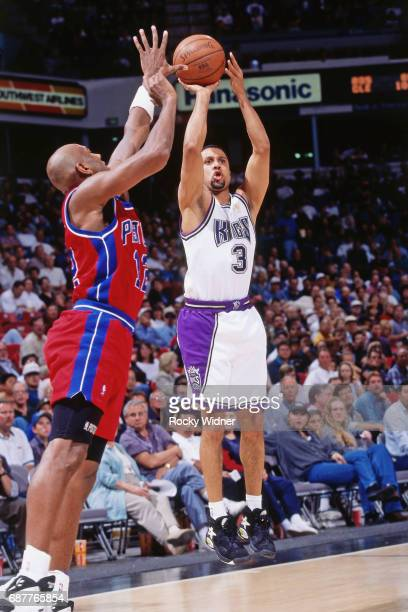 Mahmoud AbdulRauf of the Sacramento Kings shoots against the Detroit Pistons circa 1996 at Arco Arena in Sacramento California NOTE TO USER User...