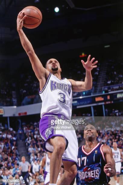 Mahmoud AbdulRauf of the Sacramento Kings shoots against the Houston Rockets circa 1996 at Arco Arena in Sacramento California NOTE TO USER User...