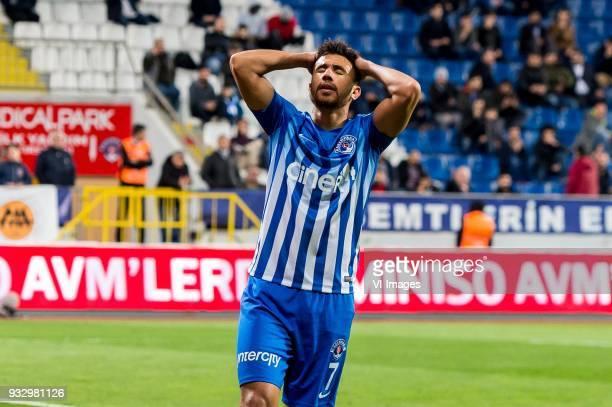 Mahmoud Ahmed Ibrahim Hassan of Kasimpasa AS during the Turkish Spor Toto Super Lig match between Kasimpasa AS and Antalyaspor AS at the Recep Tayyip...