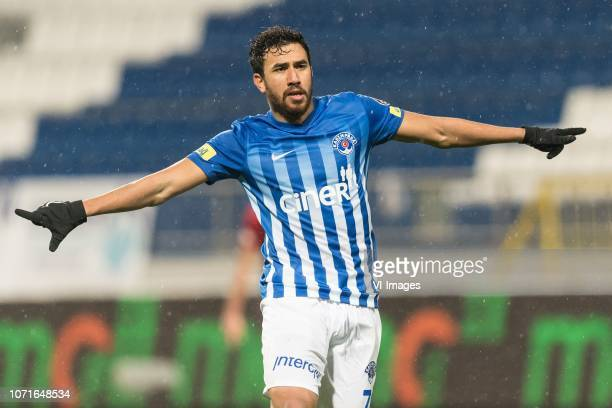 Mahmoud Ahmed Ibrahim Trezeguet of Kasimpasa AS during the Turkish Spor Toto Super Lig match between Kasimpasa AS and Kayserispor at the Recep Tayyip...