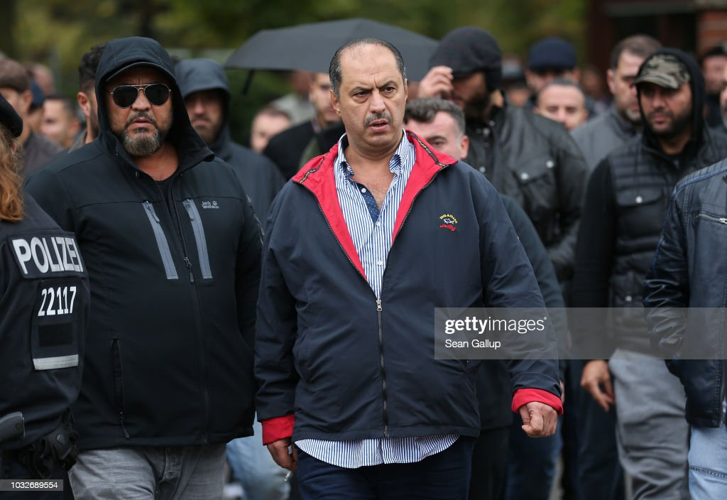 Mahmoud Al-Zein, head of the Kurdish-Lebanese Al-Zein clan, departs after attending the funeral of Nidal R. at the New 12 Apostles cemetery on September 13, 2018 in Berlin, Germany. Nidal R., 36, a multiple felon, was gunned down by assailants who managed to flee the scene at a public park last Sunday. Berlin has a number of Arab, Kurdish and Turkish clans deeply organized in organized crime.