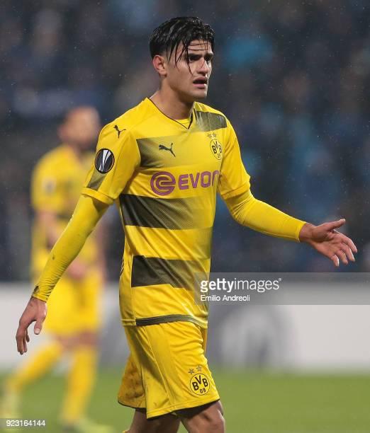Mahmoud Dahoud of Borussia Dortmund looks on during UEFA Europa League Round of 32 match between Atalanta and Borussia Dortmund at the Mapei Stadium...