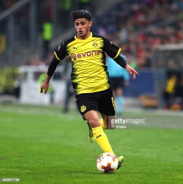 Mahmoud Dahoud of Dortmund controls the ball controls the ball during UEFA Europa League Round of 16 second leg match between FC Red Bull Salzburg...