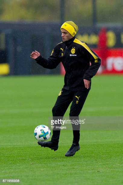 Mahmoud Dahoud of Dortmund controls the ball during a training session at BVB trainings center on November 5 2017 in Dortmund