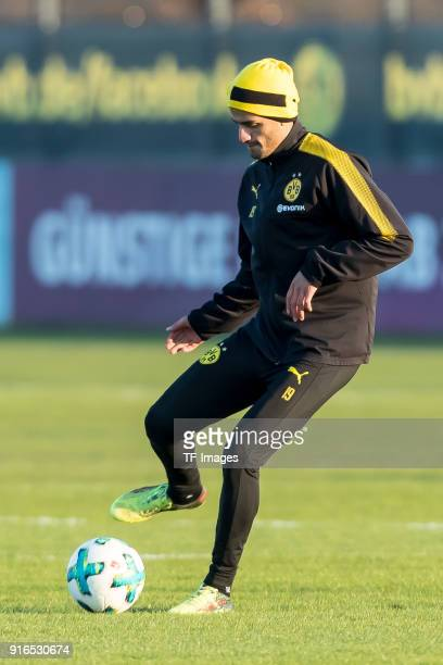 Mahmoud Dahoud of Dortmund controls the ball during a training session at BVB trainings center on February 05 2018 in Dortmund Germany