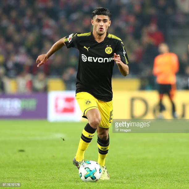 Mahmoud Dahoud of Dortmund controls the ball during the Bundesliga match between 1 FC Koeln and Borussia Dortmund at RheinEnergieStadion on February...