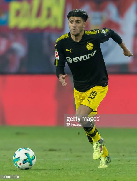 Mahmoud Dahoud of Dortmund controls the ball during the Bundesliga match between RB Leipzig and Borussia Dortmund at Red Bull Arena on March 3 2018...