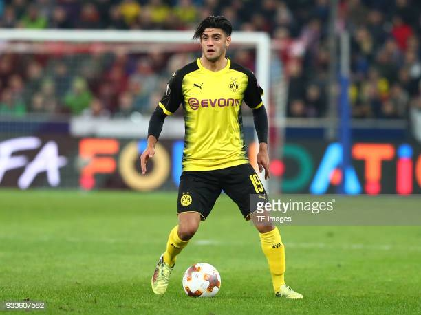 Mahmoud Dahoud of Dortmund controls the ball during UEFA Europa League Round of 16 second leg match between FC Red Bull Salzburg and Borussia...