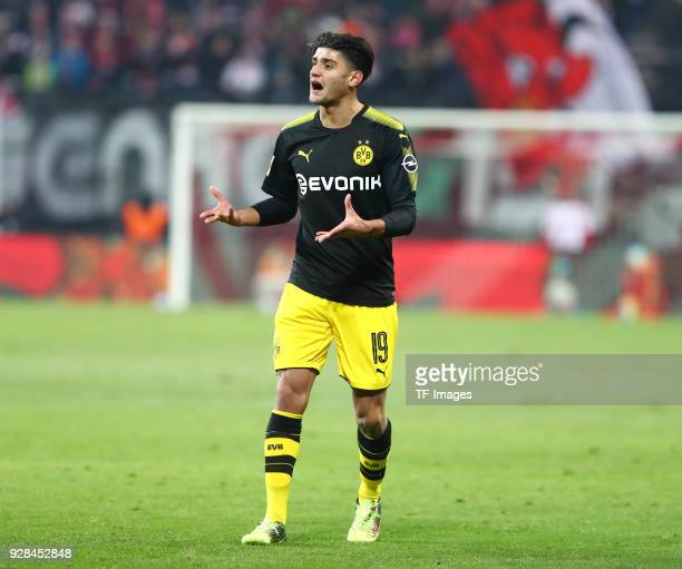 Mahmoud Dahoud of Dortmund gestures during the Bundesliga match between RB Leipzig and Borussia Dortmund at Red Bull Arena on March 3 2018 in Leipzig...