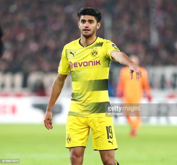 Mahmoud Dahoud of Dortmund gestures during the Bundesliga match between VfB Stuttgart and Borussia Dortmund at MercedesBenz Arena on November 11 2017...