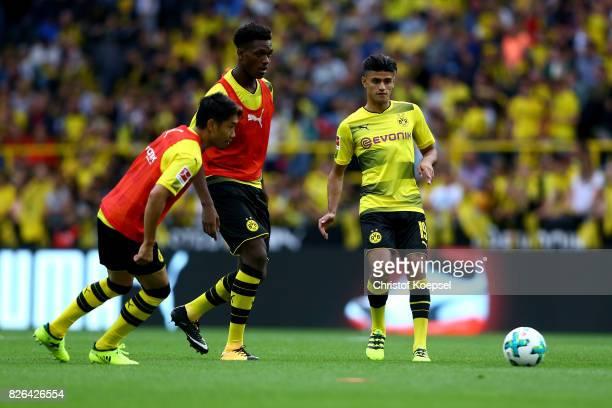 Mahmoud Dahoud of Dortmund kicks the ball during the Borussia Dortmund Season Opening 2017/18 at Signal Iduna Park on August 4 2017 in Dortmund...