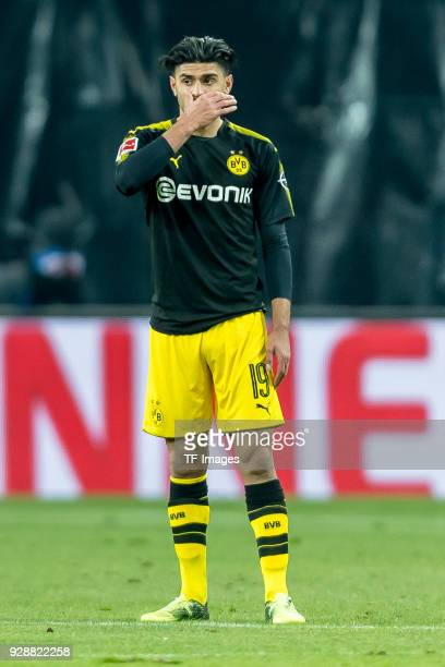 Mahmoud Dahoud of Dortmund looks dejected during the Bundesliga match between RB Leipzig and Borussia Dortmund at Red Bull Arena on March 3 2018 in...