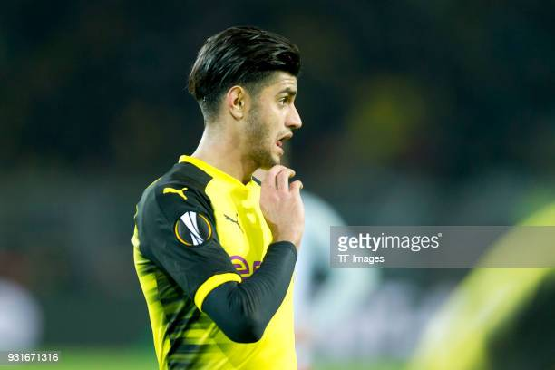 Mahmoud Dahoud of Dortmund looks on during the UEFA Europa League Round of 16 match between Borussia Dortmund and FC Red Bull Salzburg at the Signal...