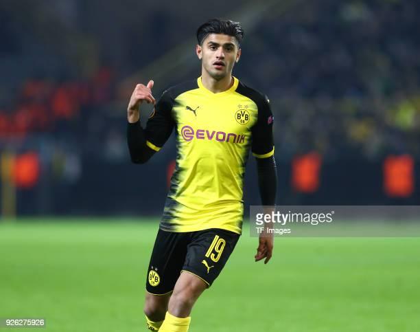 Mahmoud Dahoud of Dortmund looks on during UEFA Europa League Round of 32 match between Borussia Dortmund and Atalanta Bergamo at the Signal Iduna...