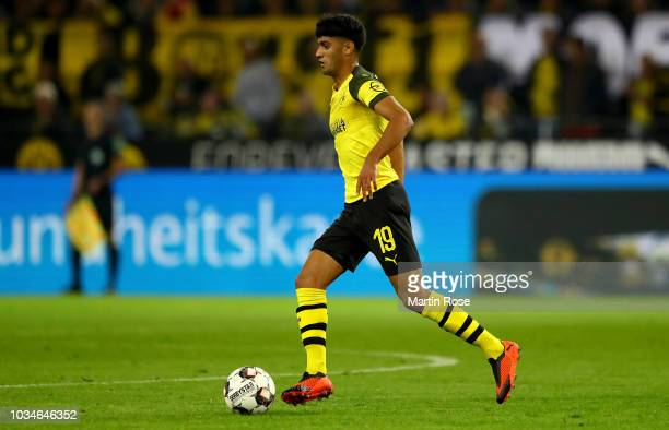 Mahmoud Dahoud of Dortmund runs with the ball during the Bundesliga match between Borussia Dortmund and Eintracht Frankfurt at Signal Iduna Park on...