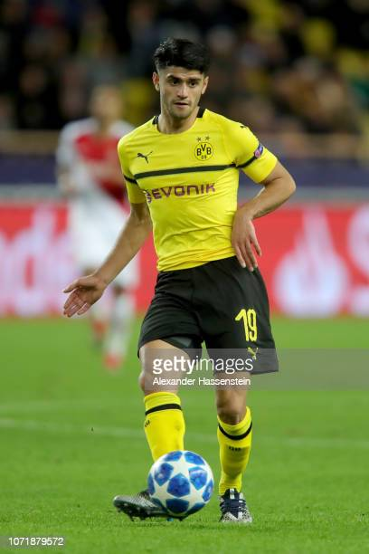 Mahmoud Dahoud of Dortmund runs with the ball during the UEFA Champions League Group A match between AS Monaco and Borussia Dortmund at Stade Louis...