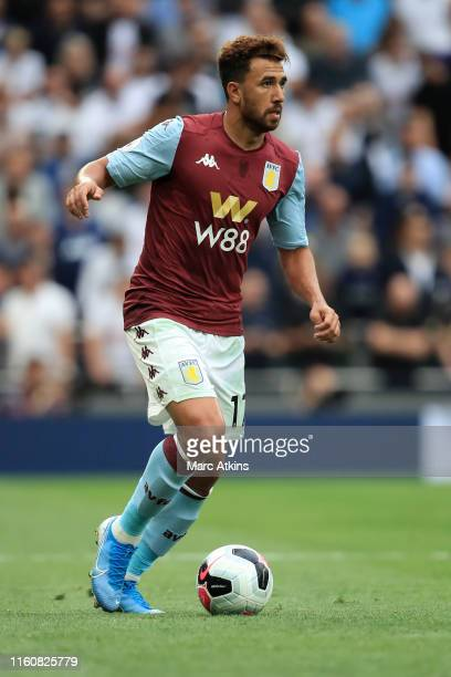 Mahmoud Hassan Trezeguet of Aston Villa during the Premier League match between Tottenham Hotspur and Aston Villa at Tottenham Hotspur Stadium on...