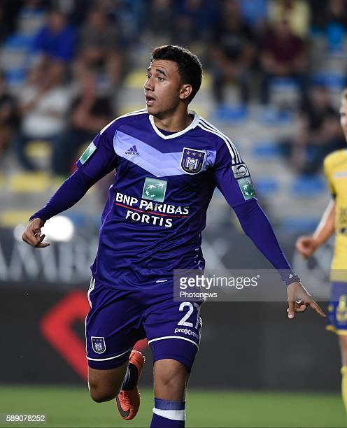 Mahmoud Ibrahim Trezeguet Hassan forward of RSC Anderlecht pictured during the Jupiler Pro league match between STVV and RSC Anderlecht at the Stayen...