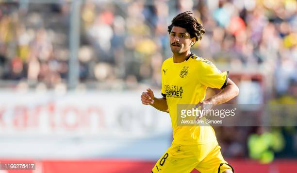 Mahmoud, Mo, Dahoud during the friendly match between Energie Cottbus and Borussia Dortmund at Stadion der Freundschaft on September 6, 2019 in...