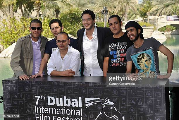 Mahmoud Siam Ahmed Hafez guitarist and singer Hany Mohamed from Massar Eg Bary actor Khaled Abu El Naga keyboardist Ayman Ossama from Massar Eg Bary...