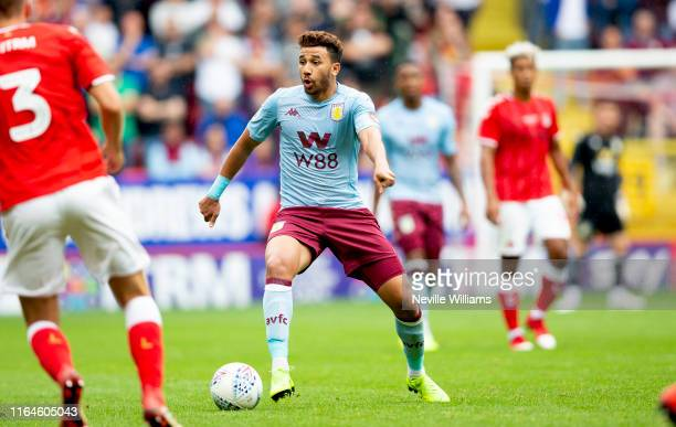 Mahmoud Trezeguet of Aston Villa in action during the PreSeason Friendly match between Charlton Athletic and Aston Villa at The Valley on July 27...