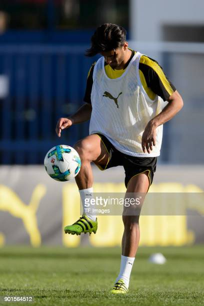 Mahmound Dahoud of Dortmund controls the ball during the Borussia Dortmund training camp at Marbella Football Center on January 05 2018 in Marbella...