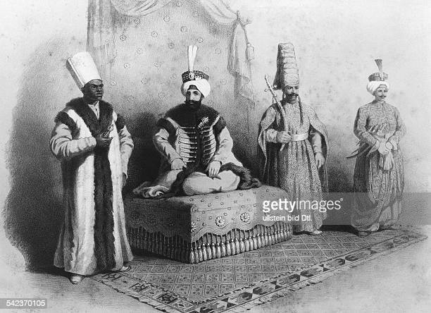 Mahmud II17841839Sultan and Caliph of the Ottoman Empire 18081839Mahmud II on his throne with courtiers contemp painting