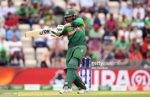 Mahmudullah of Bangladesh bats during the Group Stage match of the ICC Cricket World Cup 2019 between Bangladesh and South Africa at The Hampshire...