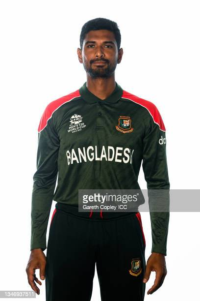 Mahmudullah of Bangladesh poses for a headshot prior to the ICC Men's T20 World Cup on October 13, 2021 in Abu Dhabi, United Arab Emirates.