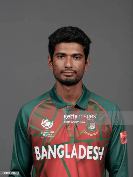 Mahmudullah of Bangladesh poses for a picture during the Bangladesh Portrait Session for the ICC Champions Trophy at Grand Hyatt on May 26 2017 in...