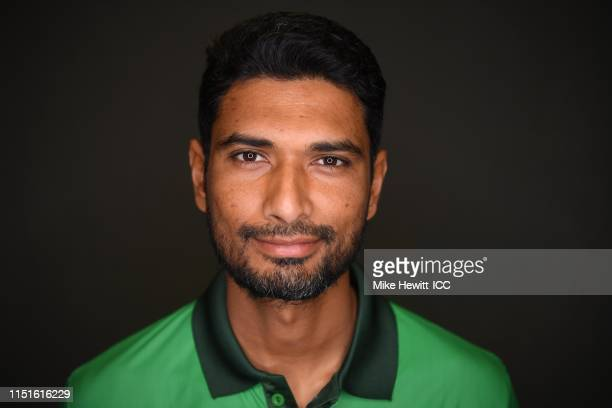 Mahmudullah of Bangladesh poses for a portrait prior to the ICC Cricket World Cup 2019 at the Park Plaza Hotel on May 25, 2019 in Cardiff, Wales.
