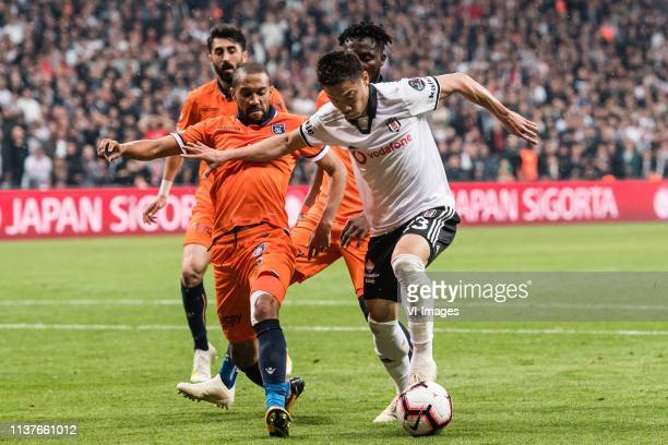 Mahmut Tekdemir of Istanbul Medipol Basaksehir FK Gael Dimitri Clichy of Istanbul Medipol Basaksehir FK Joseph Larweh Attamah of Istanbul Medipol...