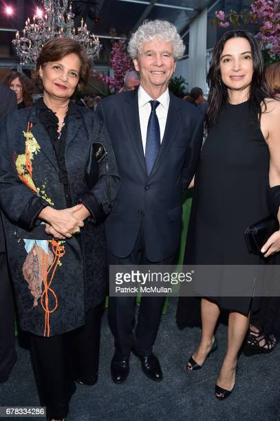 Mahnaz Ispahani Bartos Tony Bechara and Clarice Tavares attends the Studio in a School 40th Anniversary Gala at Seagram Building Plaza on May 3 2017...