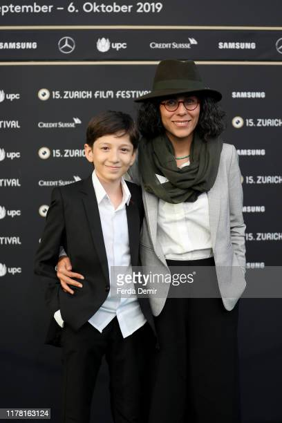 """Mahnaz Mohammadi and Mahan Nasirineda attend the """"Son-Mother"""" photo call during the 15th Zurich Film Festival at Kino Corso on September 30, 2019 in..."""