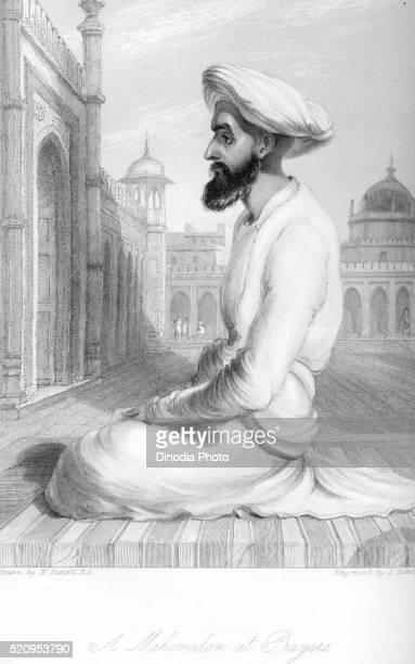 mahomedan at prayers, india - namaz stock pictures, royalty-free photos & images