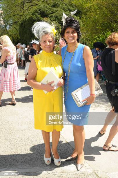 Mahrokh Sakhai and Kate Khakshouri attend 36th Annual Frederick Law Olmsted Awards Luncheon Central Park Conservancy at The Conservatory Garden in...