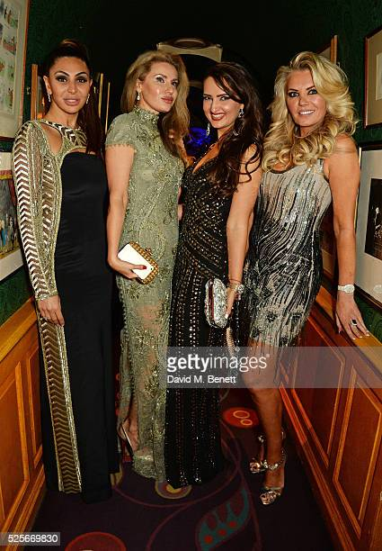 Mahsa Nejati Alexandra Shishlova Alina Blinova and Claire Caudwell attend a private dinner hosted by Fawaz Gruosi founder of de Grisogono at Annabels...