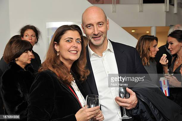Mahtab hanjani and guest attend the book launch of Art Studio America at ICA on November 11, 2013 in London, England.