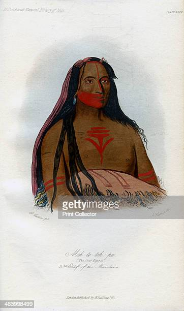 'Mahtotohpa 2nd Chief of the Mandans' 1848 Native American man of the Mandan people a branch of the Sioux family in North America An engraving from...