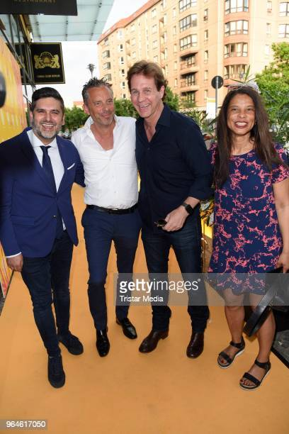 Mahyar Mika Rahimkhan Patrick Graf von FaberCastell Thomas Heinze and his wife Jackie Brown during the celebration of the first anniversary of indian...