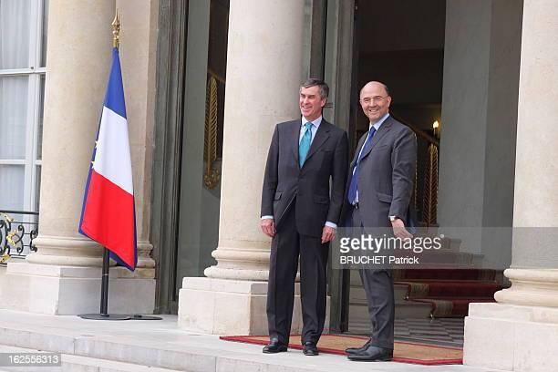 First Council Of Ministers Of New Socialist Government Paris France 17 mai 2012 Premier conseil des ministres du nouveau gouvernement socialiste au...