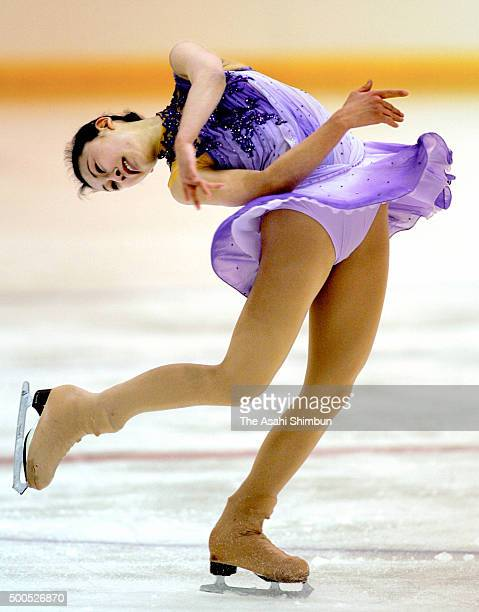 Mai Asada competes in the Figure Skating Girls event of the Winter National Sports Festival on February 1 2006 in Tomakomai Hokkaido Japan