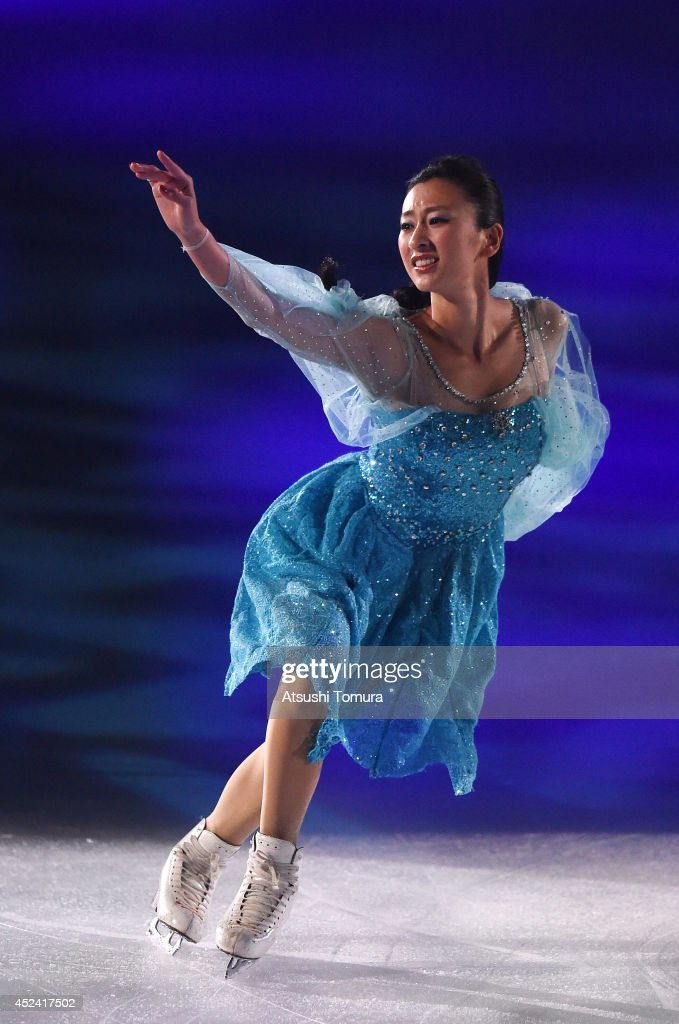 Mai Asada of Japan performs her routine during THE ICE 2014 at the White Ring on July 19, 2014 in Nagano, Japan.