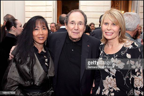 Mai Chen Chalais Robert Hossein and Candice Patou at Claudia Cardinale And Giorgio Armani Awarded By French President Nicolas Sarkozy With Insignias...