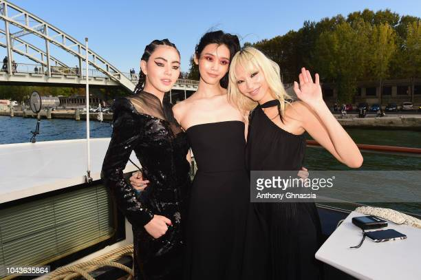 Mai Davika Hoorne Ming Xi and Soo Joo Park attend Le Defile L'Oreal Paris as part of Paris Fashion Week Womenswear Spring/Summer 2019 on September 30...