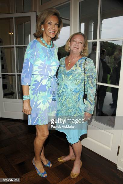 Mai Hallingby Harrison and Pandora Biddle attend the Kickoff Party for the 2009 Alzheimer's Association Rita Hayworth Gala at a Private Residence on...