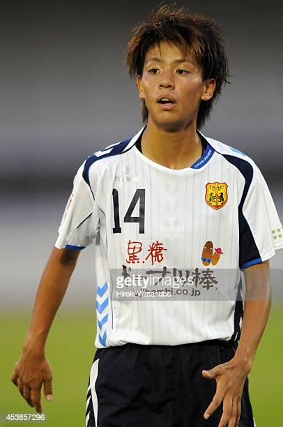 Mai Kyokawa of INAC in action during the Nadeshiko League match between Urawa Red Diamonds Ladies and INAC Kobe Leonessa at Komaba Stadium on August...