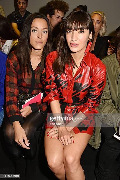 Mai Lan and Piu Piu attend the Barbara Bui show as part of the Paris Fashion Week Womenswear Spring/Summer 2017 on September 29 2016 in Paris France