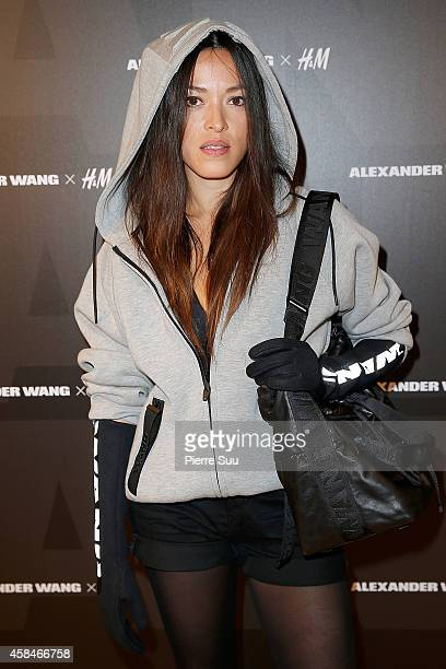 Mai Lan attends Alexander Wang x HM Collection Launch at HM Boulevard SaintGermain on November 5 2014 in Paris France