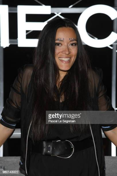 Mai Lan attends Chanel's Coco Game Club event Photocall at Galeries Lafayette Haussmann on June 20 2018 in Paris France